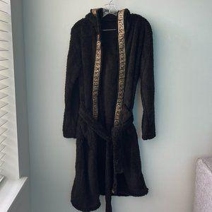 SHEIN Plush Robe With Hoodie